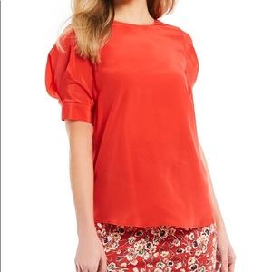 3c615d60938 ... Antonio melani Tina Puffed Sleeve Silk Blouse ...
